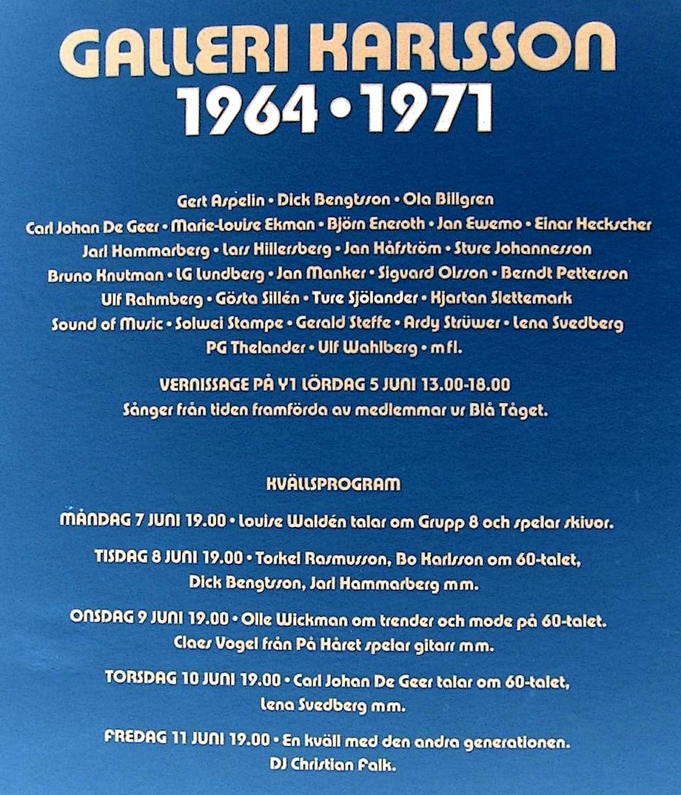 Click Here and Watch Television, Video and the Book from Galleri Karlsson 1964 20 minutes